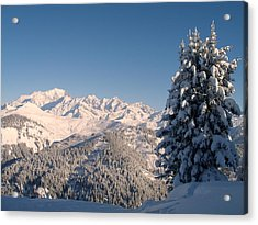 Mont Blanc From Les Saisies Acrylic Print by Michael Canning
