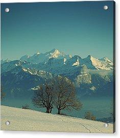 Mont Blanc Acrylic Print by Lionel Albino