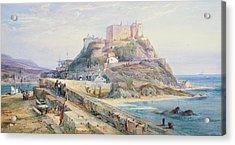 Mont Orgueil Castle Acrylic Print by Richard Principal Leitch