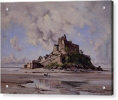 Mont Saint Michel Acrylic Print by Emmanuel Lansyer