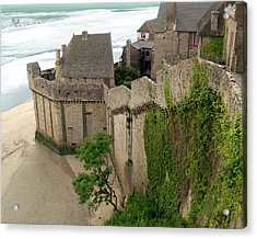 Mont St Michel Outer Wall Acrylic Print