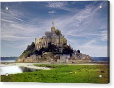 Mont St Michel Acrylic Print by Rod Jones