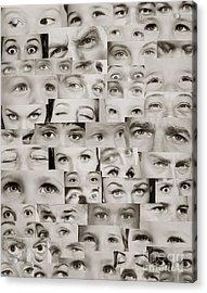 Montage Of Eyes, C.1960s Acrylic Print
