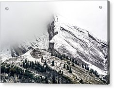 Montain Range Snow Covered Acrylic Print