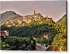 Montalto Ligure - Italy Acrylic Print by Juergen Weiss