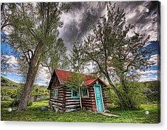 Montana Cabin Acrylic Print