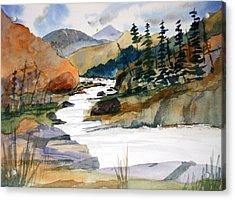 Montana Canyon Acrylic Print