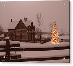 Montana Christmas Acrylic Print by Paul Porto