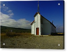 Montana Church Acrylic Print by Tom  Reed