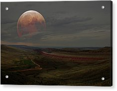 Montana Landscape On Blood Moon Acrylic Print