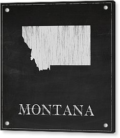 Montana Map Acrylic Print by Finlay McNevin