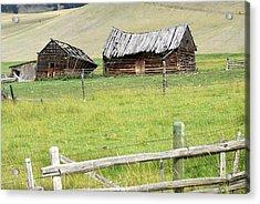 Montana Ranch Acrylic Print by Marty Koch