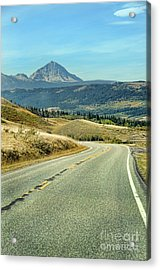 Acrylic Print featuring the photograph Montana Road by Jill Battaglia