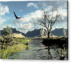 Montana Sky Acrylic Print by Steven Palmer