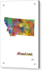 Montana State Map Acrylic Print by Marlene Watson