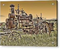 Montana Steam Punk - Nevada City Ghost Town Acrylic Print by Daniel Hagerman