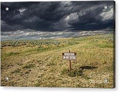Montana Storm Acrylic Print by Sandy Adams