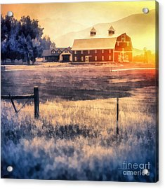 Montana Sunrise Acrylic Print by Edward Fielding