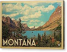 Montana Travel Poster - Vintage Travel Acrylic Print