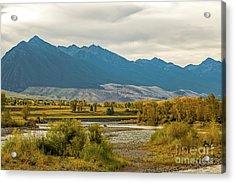 Montana Yellowstone River View Acrylic Print