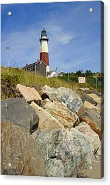 Montauk Lighthouse 2 Acrylic Print by Michael Simeone