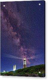 Montauk Point And The Milky Way Acrylic Print by Rick Berk