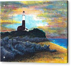 Montauk Point Acrylic Print by Teddy Campagna