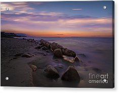 Montauk Sunset Boulders Acrylic Print