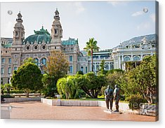 Monte Carlo Casino And Gardens, Monaco Acrylic Print