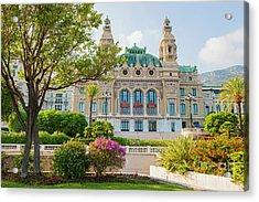 Monte Carlo Casino Acrylic Print by Elena Elisseeva