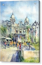 Monte Carlo Casino - Monaco Acrylic Print by Natalia Eremeyeva Duarte