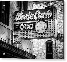 Monte Carlo Food Acrylic Print by Perry Webster