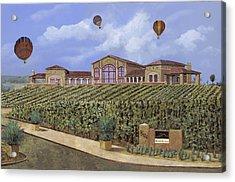Monte De Oro And The Air Balloons Acrylic Print by Guido Borelli