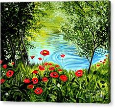 Monte Rio Poppies Acrylic Print by Elizabeth Robinette Tyndall
