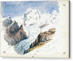 Monte Rosa From Hornli, Zermatt Acrylic Print
