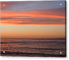 Monterey Bay Sunset Acrylic Print