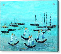 Monterey Boats Acrylic Print