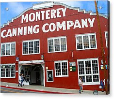 Monterey Canning Company Acrylic Print by Candace Garcia