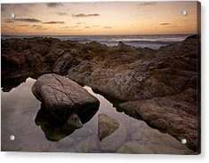 Monterey Sunset Acrylic Print by Mike Irwin