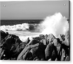 Monterey Waves Acrylic Print by Halle Treanor