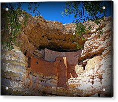 Montezuma Castle In Arizona Acrylic Print by Jen White