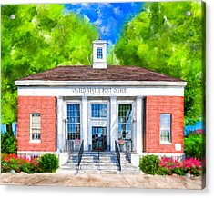Montezuma Georgia - New Deal Era Post Office Acrylic Print by Mark Tisdale