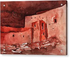 Acrylic Print featuring the painting Montezuma's Castle by Sharon Mick