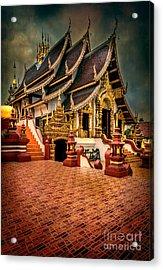 Monthian Temple Chiang Mai  Acrylic Print