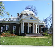 Monticello Acrylic Print by James and Vickie Rankin