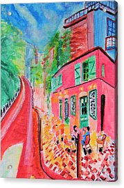 Montmartre Cafe In Paris Acrylic Print