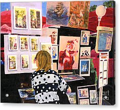 Montmartre Circa 1977 Acrylic Print by Lynne Reichhart