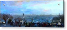 Montmartre From The Butte Acrylic Print