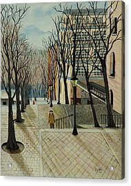 Montmartre Steps In  Paris Acrylic Print by Susan Kubes