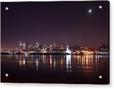 Montreal At Night Acrylic Print by Martin Rochefort